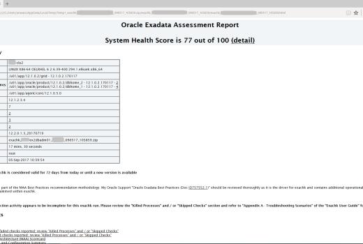 How to use Oracle Exadata Database Machine Exa Check (exachk)   Zed